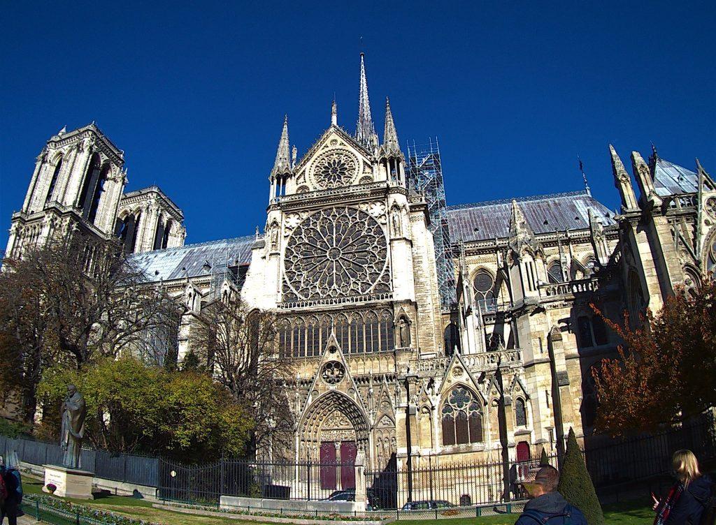 Notre-Dame de Paris facciata laterale sud