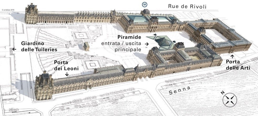 Mappa Louvre