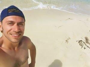 Io in spiaggia a Rottnest Island, Australia
