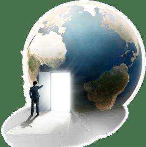 Una porta nel globo terrestre
