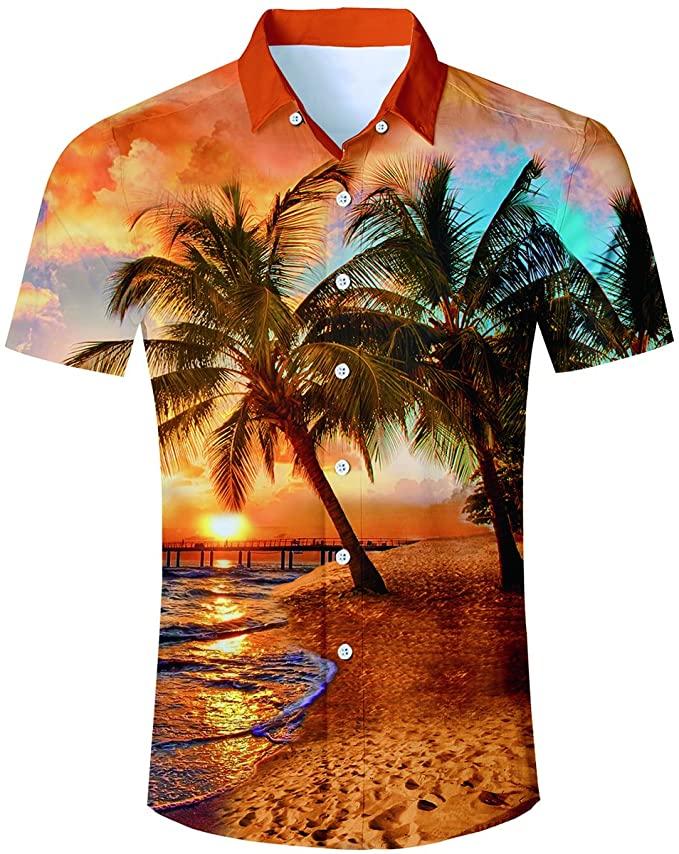 Camicia con disegno esotico